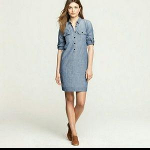 JCREW Classic Chambray  Shirt Dress
